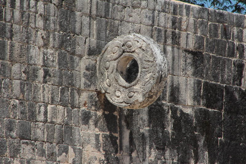 Jogo de bola asteca fotografia de stock royalty free
