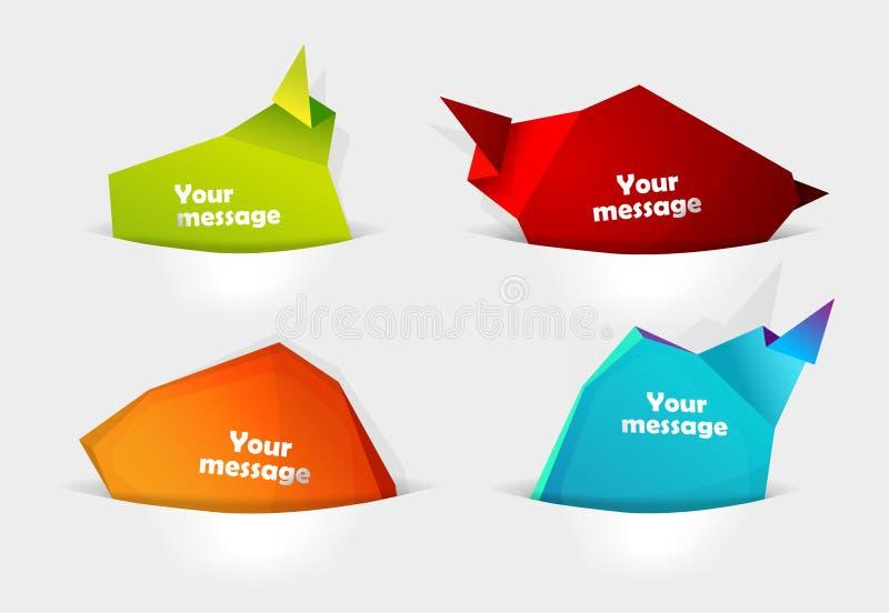 Jogo de bolhas da mensagem. ilustração stock