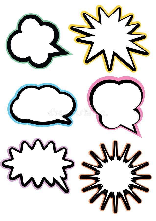 Jogo de bolhas do discurso ilustração do vetor