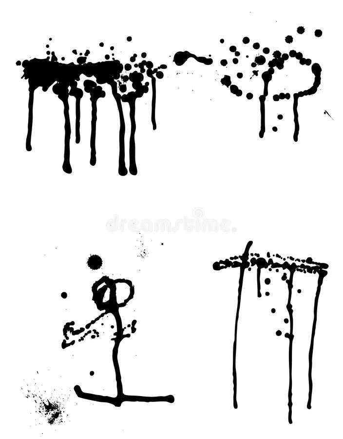 Jogo de borrões e de escape da tinta. Illustratio do vetor ilustração stock