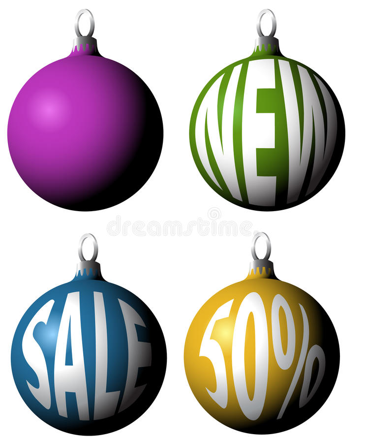 Jogo de bulbos do Natal ilustração do vetor
