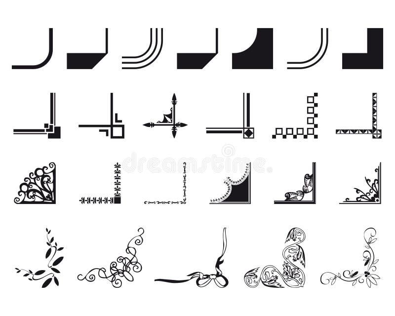 Jogo de cantos misturados da beira ilustração stock