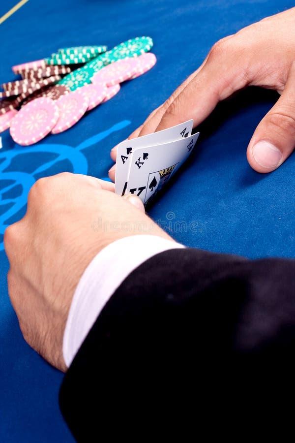 Jogo de cartão foto de stock