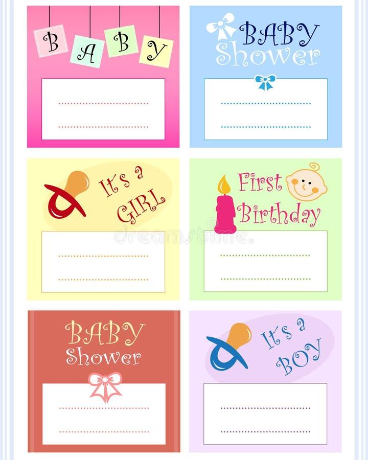 Jogo de cartão do bebê ilustração royalty free
