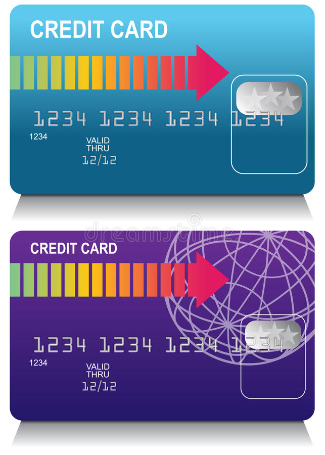 Jogo de cartão do crédito ilustração do vetor