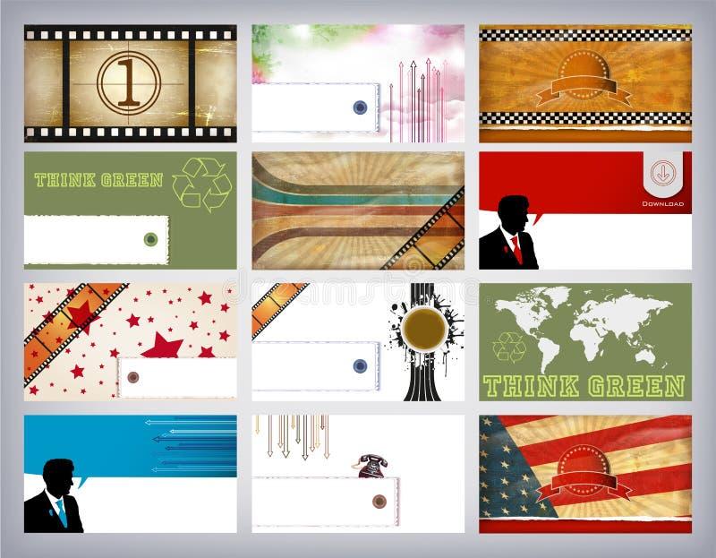 Jogo de cartão do negócio ilustração royalty free