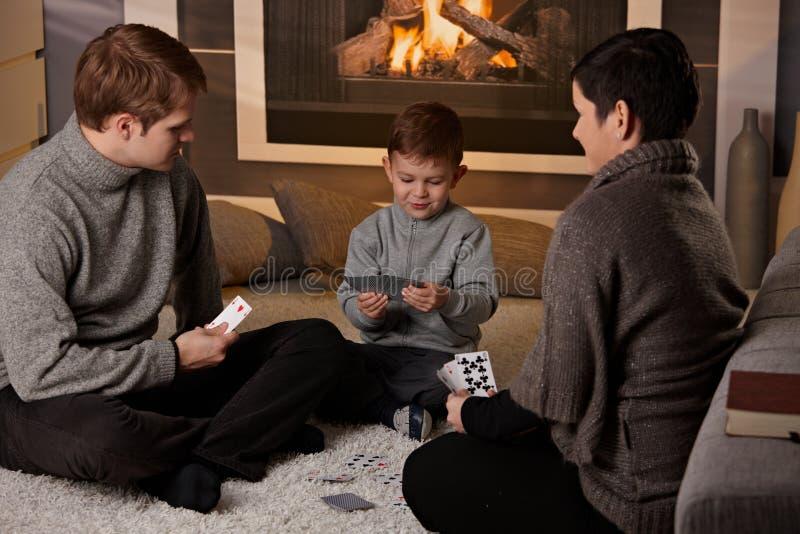Jogo de cartão novo do jogo da família imagem de stock royalty free