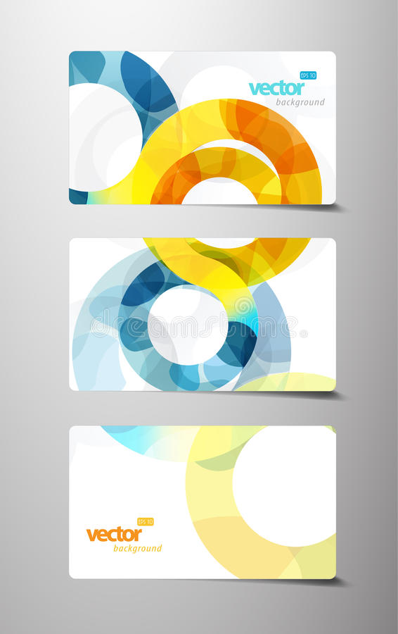Jogo de cartões do presente com círculos. ilustração royalty free