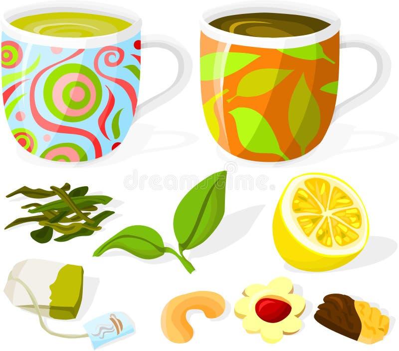 Jogo de chá 02 ilustração royalty free