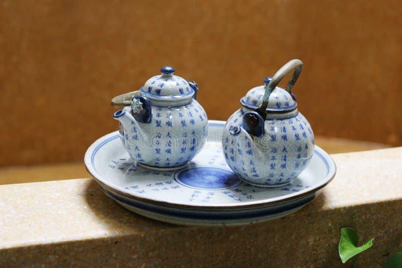 Jogo de chá. fotos de stock