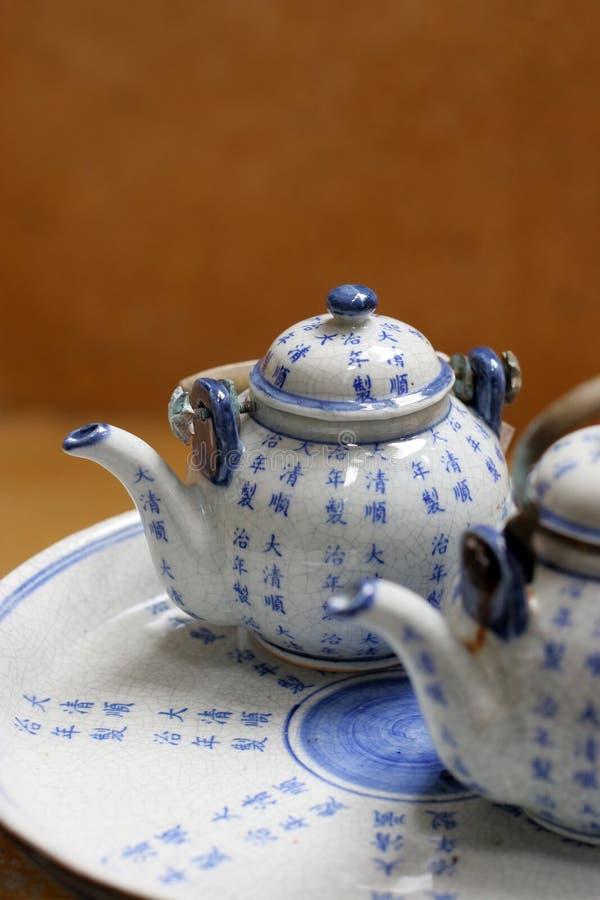 Jogo de chá. fotografia de stock royalty free