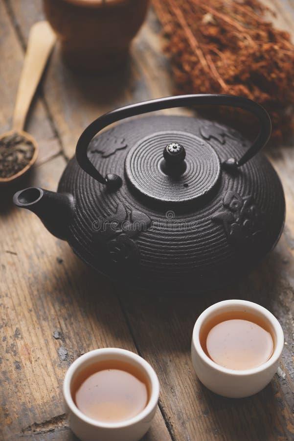 Jogo de chá asiático fotos de stock royalty free
