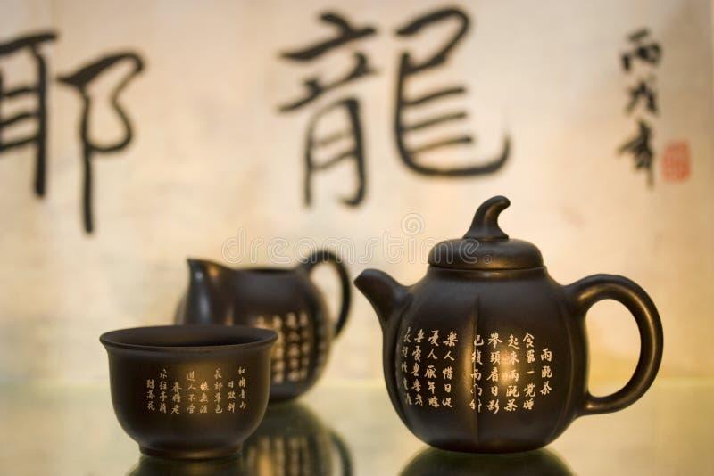 Jogo de chá chinês fotos de stock