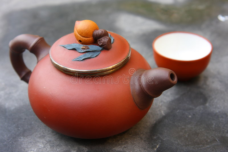 Jogo de chá chinês fotos de stock royalty free