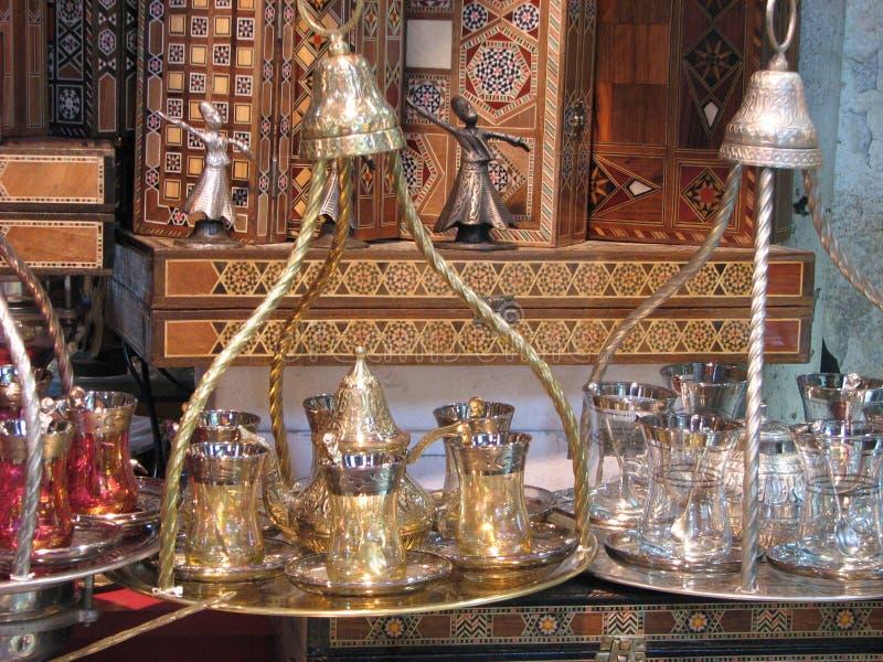 Jogo de chá oriental fotografia de stock
