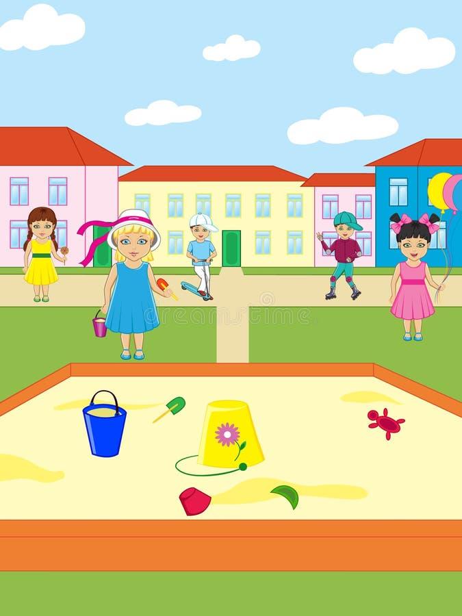Jogo de Childs ilustração royalty free