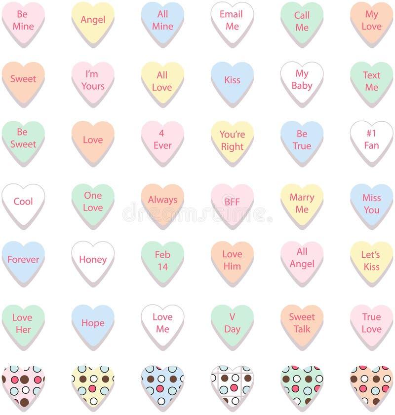Jogo de corações coloridos da conversação, vetor ilustração do vetor