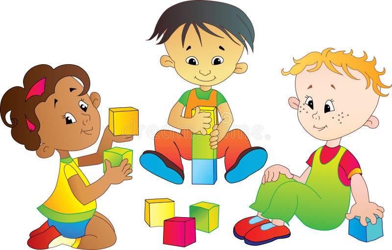 Jogo de crianças ilustração royalty free
