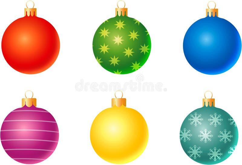 Jogo de decorações do Natal ilustração royalty free