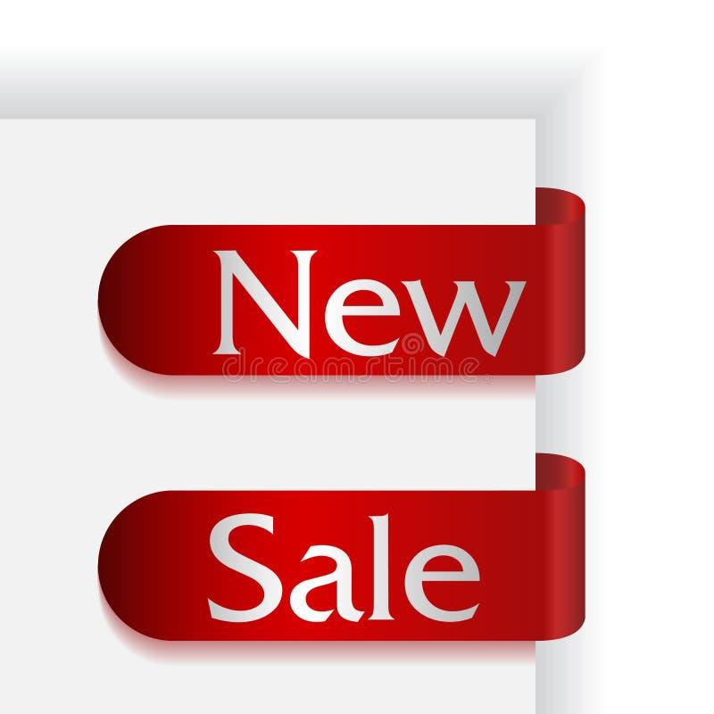 Jogo de duas fitas com as palavras novas e a venda fotos de stock