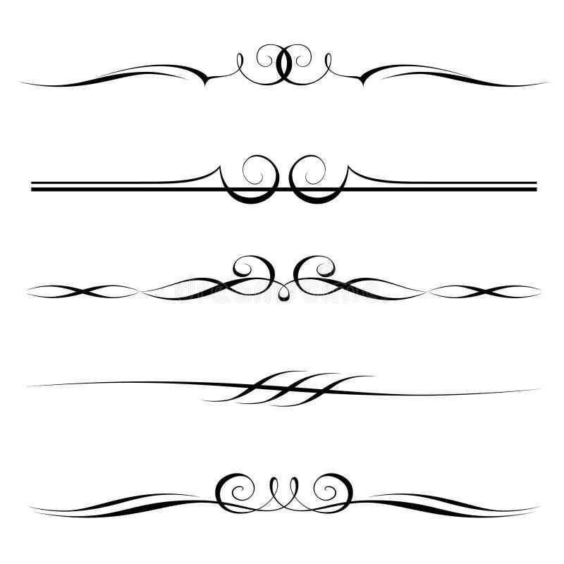 Jogo de elementos decorativos ilustração do vetor