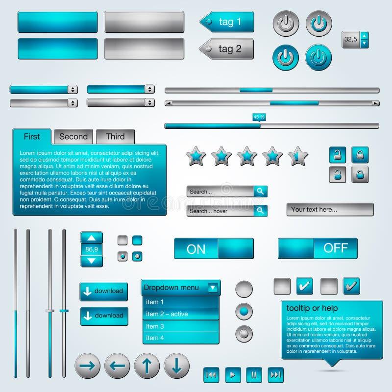 Jogo de elementos do Web ilustração royalty free