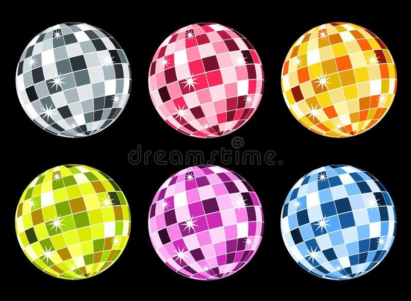 Jogo de esferas do disco ilustração stock