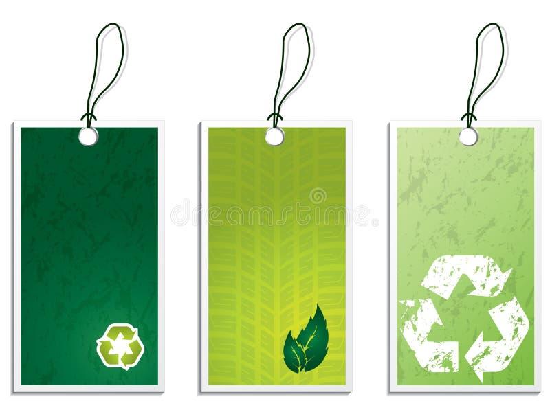 Jogo de etiqueta de Eco ilustração royalty free