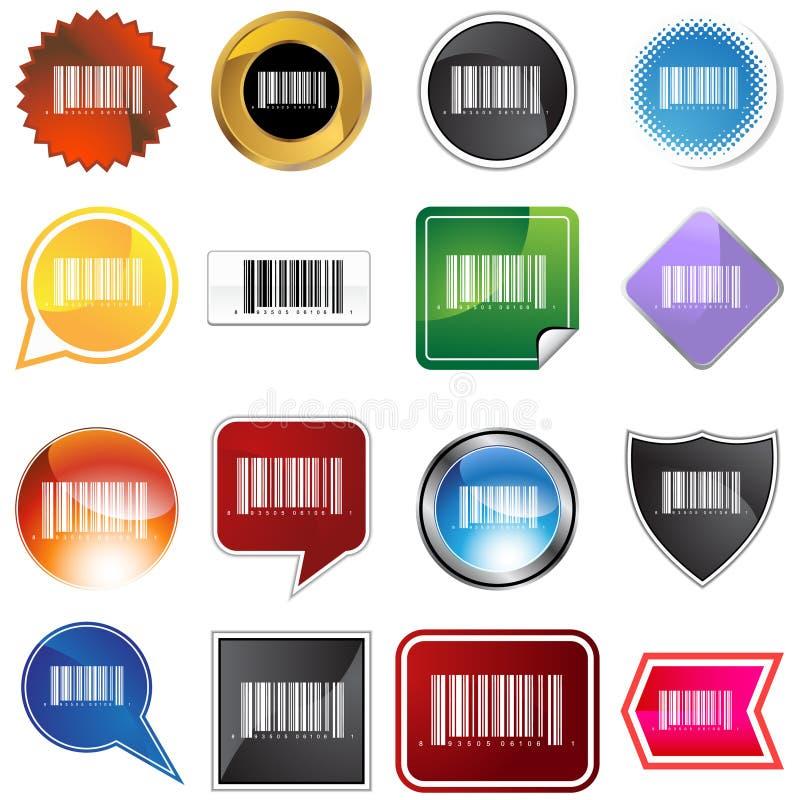 Jogo de etiqueta do código de barras ilustração do vetor