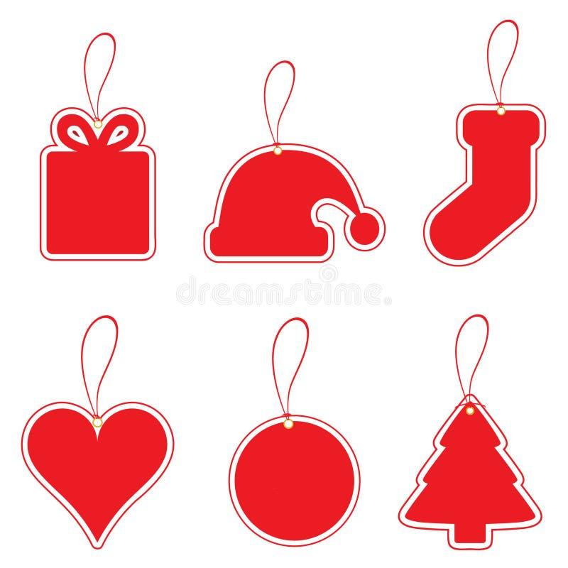 Jogo de etiqueta do Natal ilustração royalty free