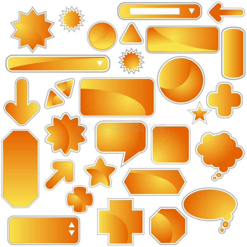 Jogo de etiqueta - laranja ilustração royalty free