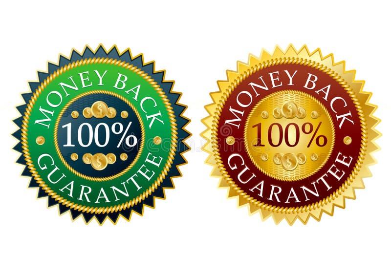 Jogo de etiquetas da parte traseira do dinheiro ilustração do vetor