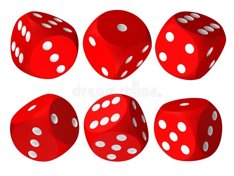 Jogo de excrementos vermelhos do casino ilustração stock