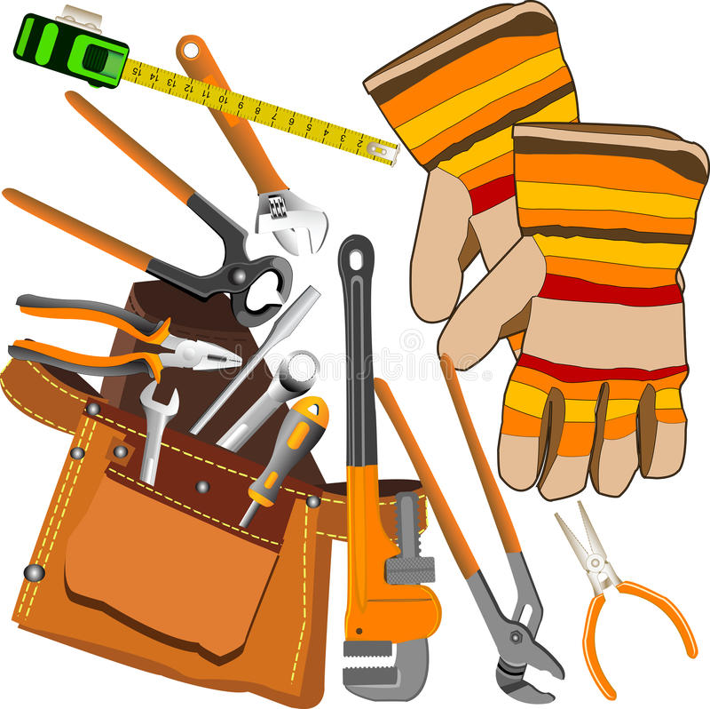 Jogo de ferramentas. ilustração royalty free