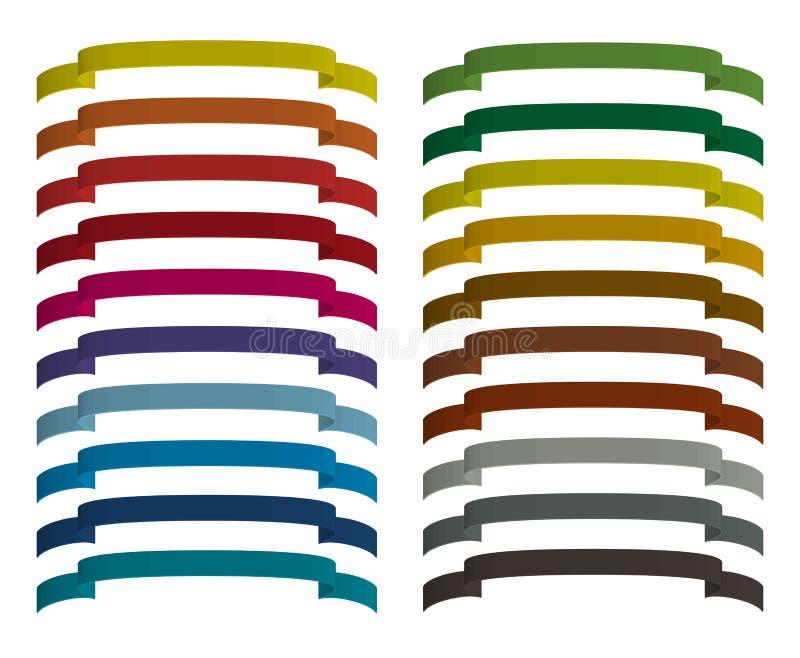 Jogo de fitas coloridas ilustração do vetor