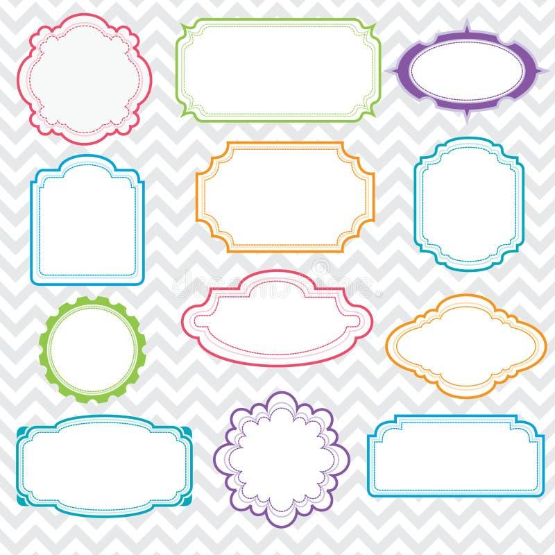 Jogo de frames coloridos ilustração royalty free