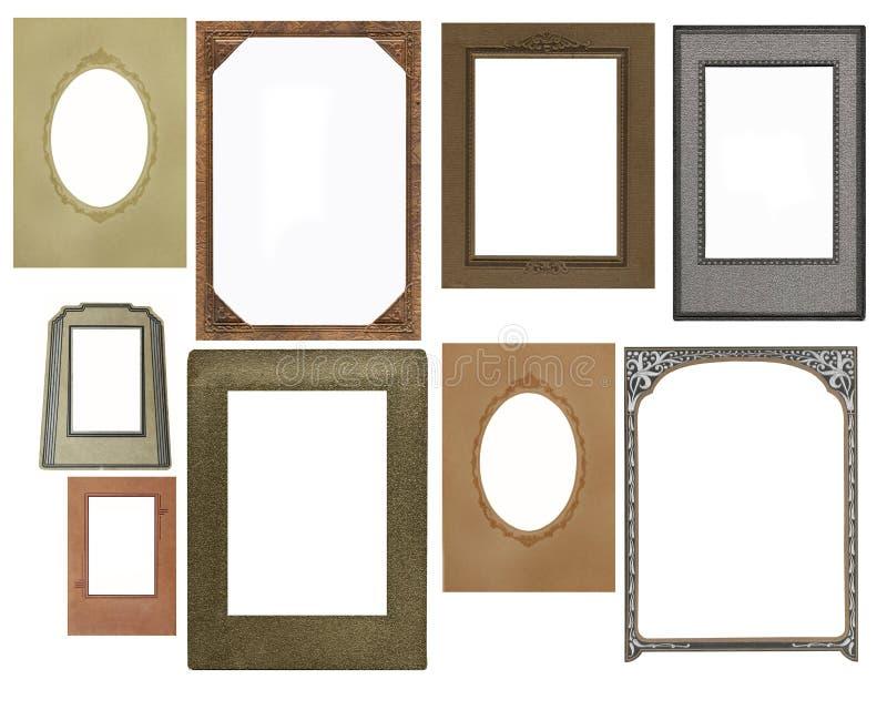 Jogo de frames do vintage foto de stock