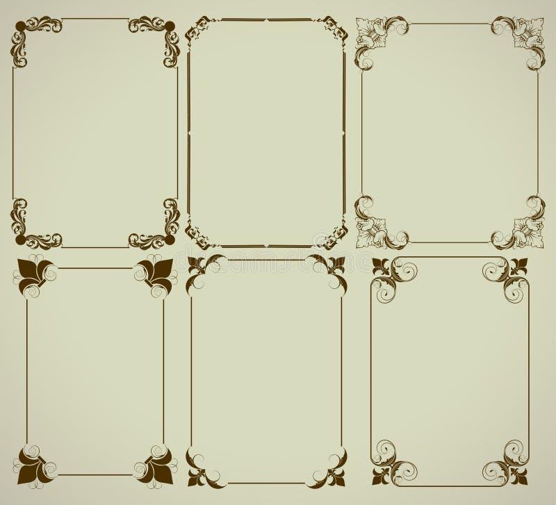 Jogo de frames simples ilustração royalty free