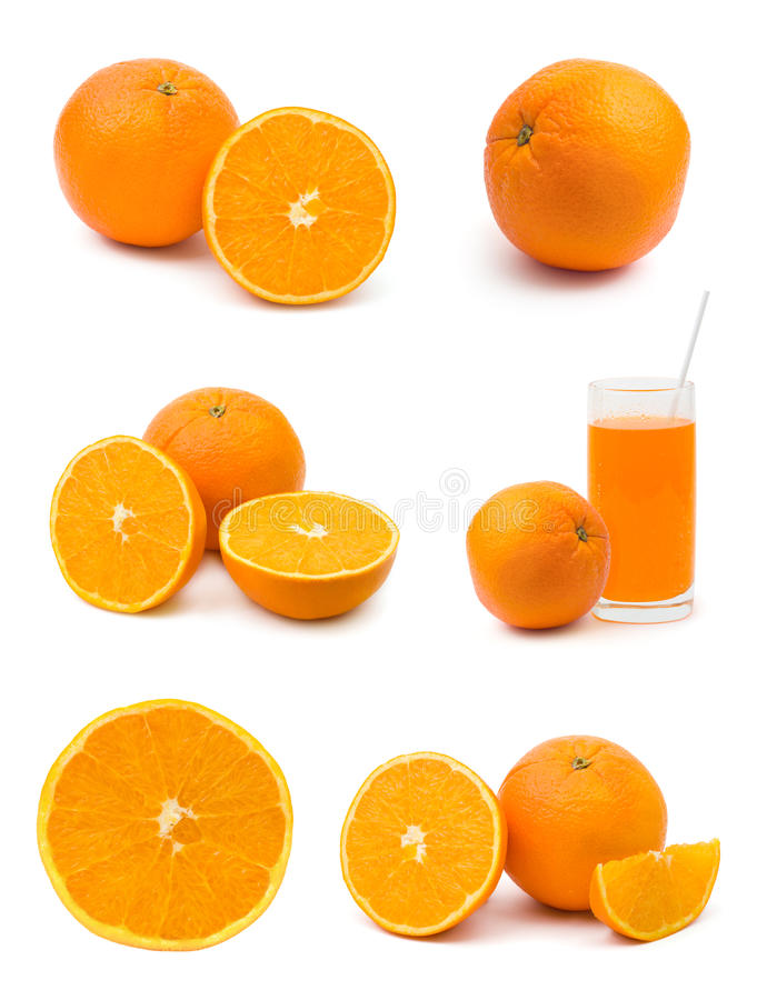 Jogo de frutas alaranjadas imagem de stock royalty free