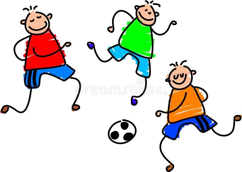 Jogo de futebol ilustração do vetor