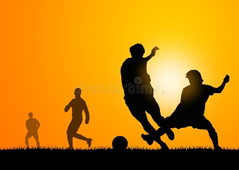 Jogo de futebol ilustração royalty free