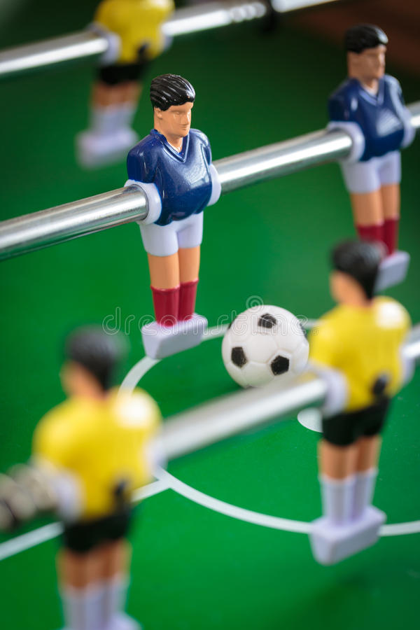 Jogo de futebol do retrocesso fotografia de stock