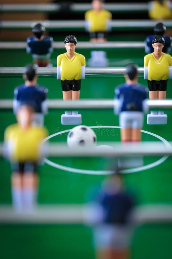 Jogo de futebol do retrocesso imagem de stock
