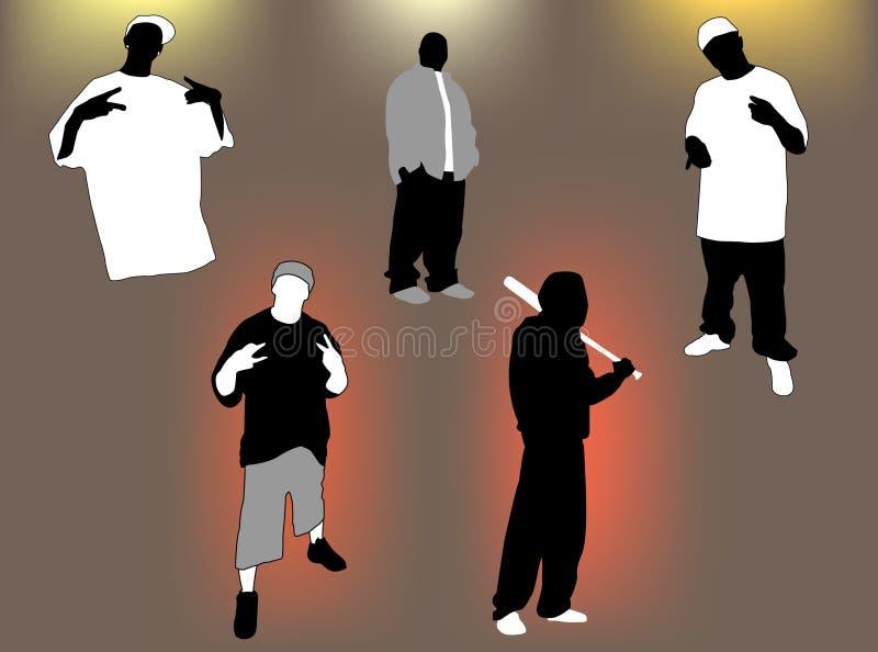 Jogo de Gangsta ilustração royalty free
