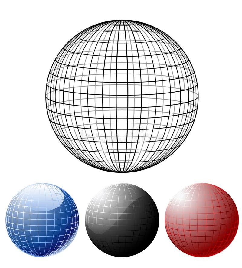 Download Jogo de globos coloridos ilustração do vetor. Ilustração de elemento - 16857501