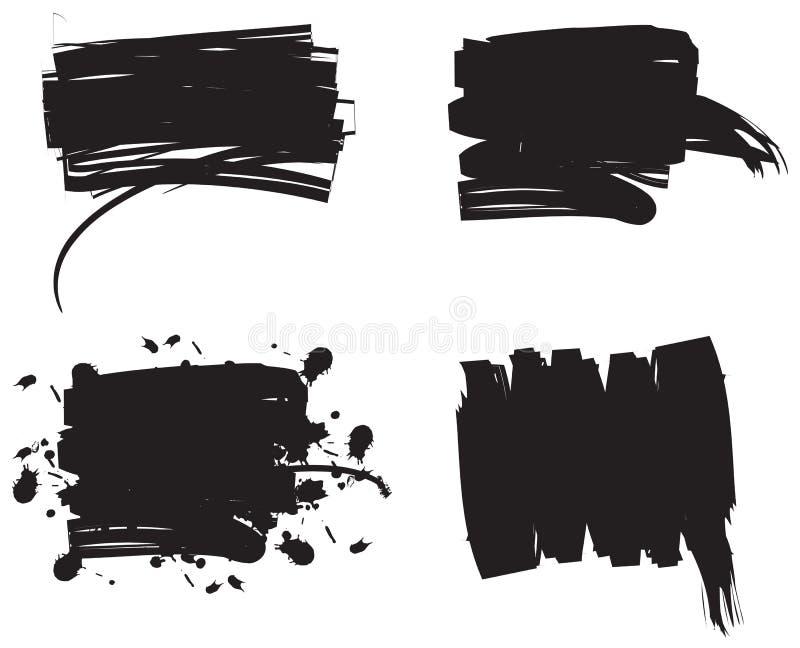 Jogo de Grunge. Vetor. ilustração do vetor
