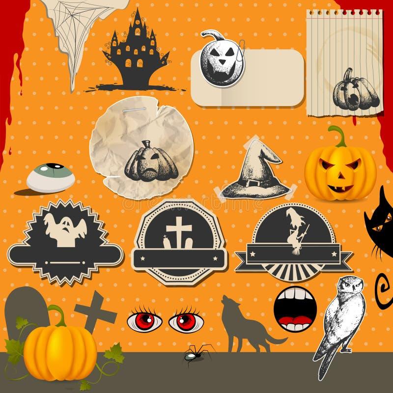 Jogo de Halloween ilustração royalty free