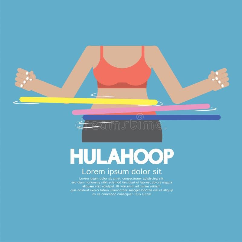 Jogo de Hulahoop ilustração royalty free