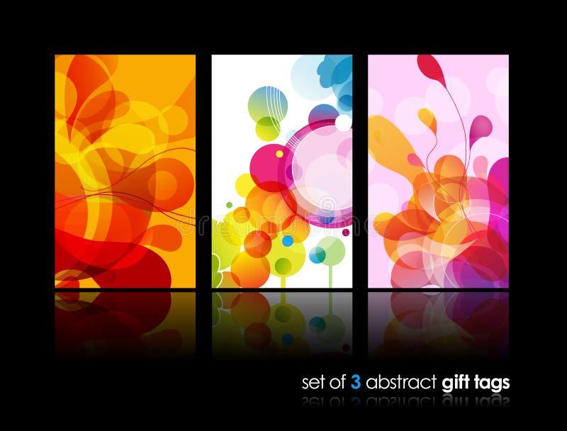 Jogo de ilustrações coloridas abstratas do círculo. ilustração stock
