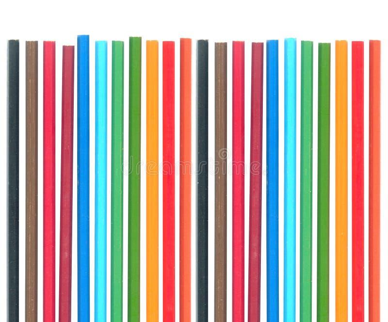 Jogo de lápis da cor foto de stock